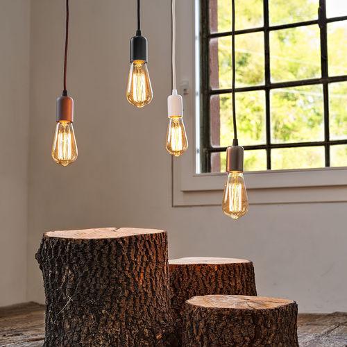 lampada a sospensione / moderna / in vetro / alogena