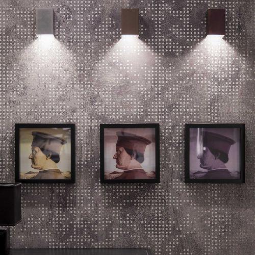 applique moderna / in metallo / LED / rettangolare