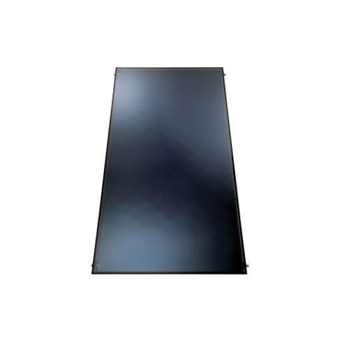 collettore solare termico piano / per scaldare l'acqua / montaggio verticale / con telaio in alluminio