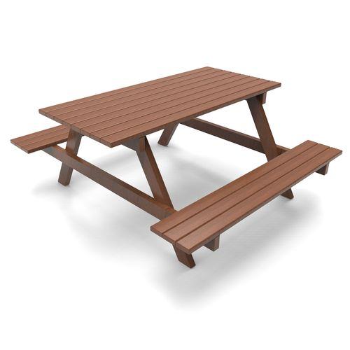 set tavolo e panca in stile rustico