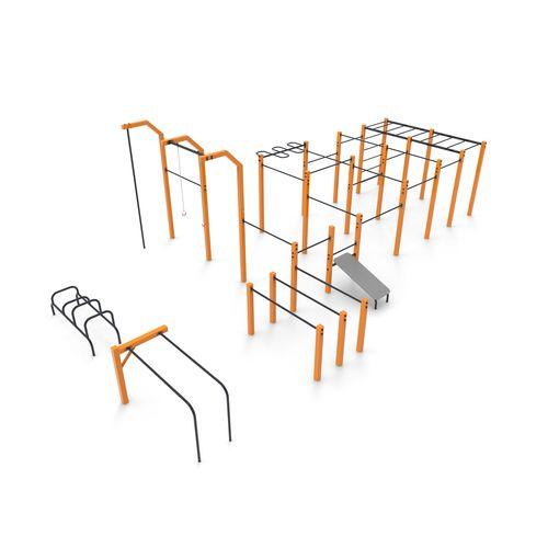 circuito di fitness per spazio pubblico