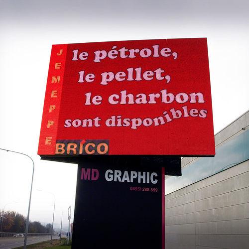 cartello pubblicitario da parete