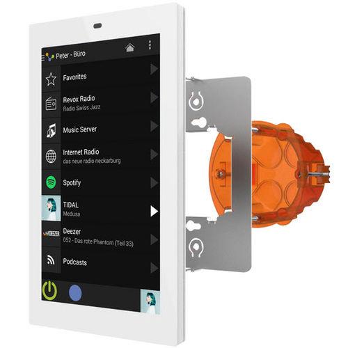 tastiera di controllo per installazione multimediale / a muro / con touch screen