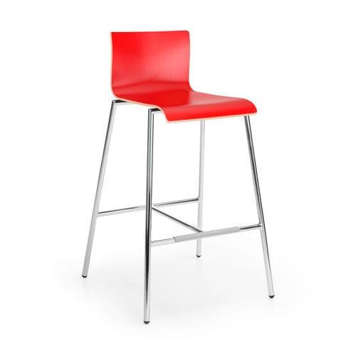 sedia alta moderna / con poggiapiedi / in faggio / in legno compensato
