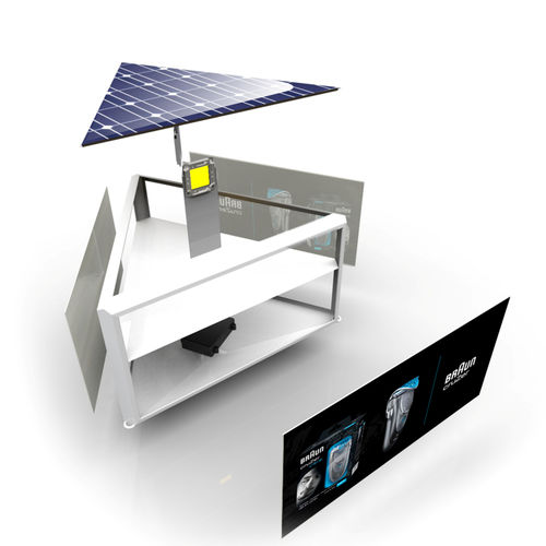 cartello pubblicitario da esterno / LED / pubblicitario / solare