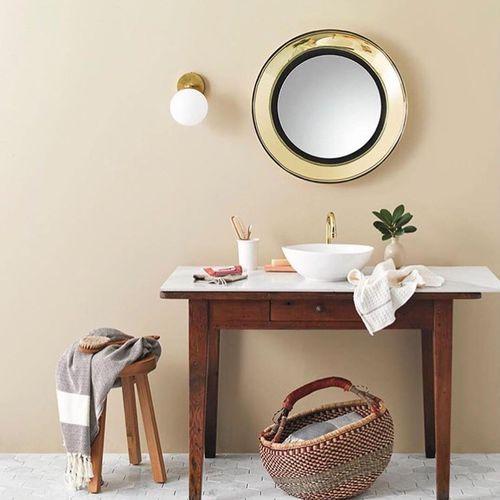specchio a muro / moderno / tondo / in ottone