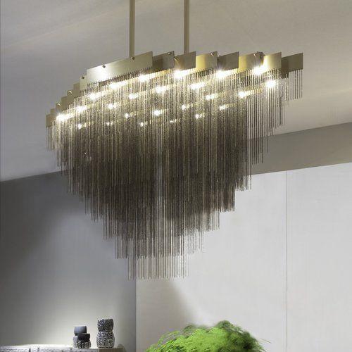lampadario moderno / in acciaio / a incandescenza / LED