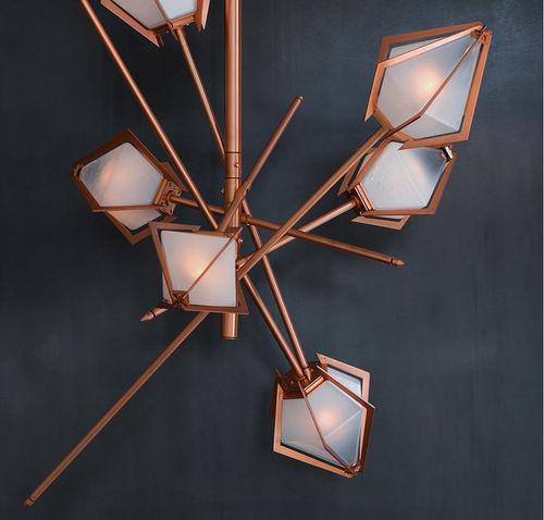 lampadario design originale / in vetro soffiato / in metallo / in alabastro