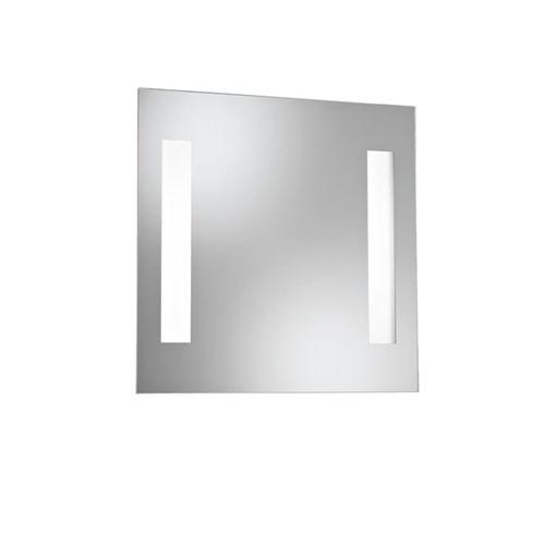 specchio da bagno a muro / luminoso a LED / moderno / rettangolare