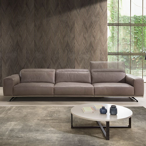 divano moderno / in tessuto / in pelle / 3 posti