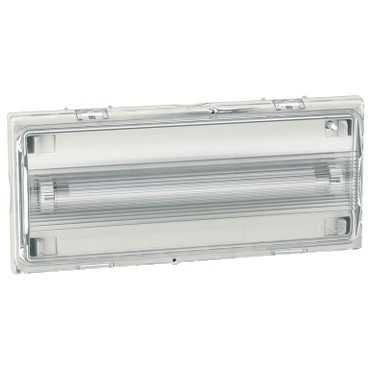 illuminazione di emergenza a muro / rettangolare / a lampada fluorescente / IP42