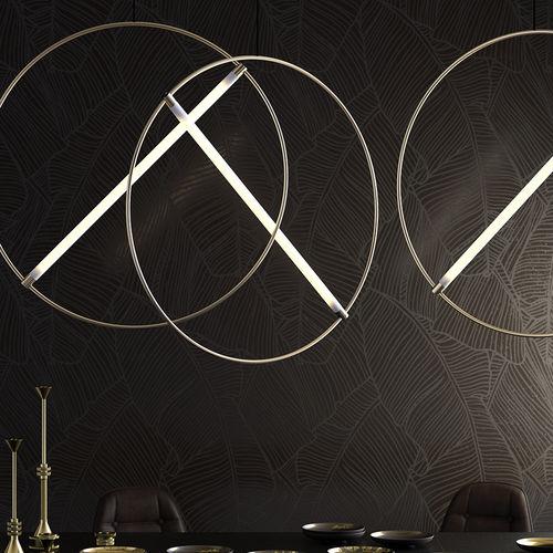 lampada a sospensione / design originale / in ottone / in cromo