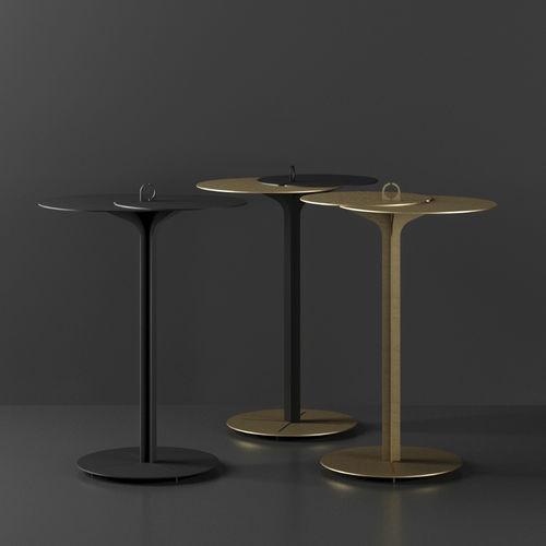 tavolo d'appoggio moderno / in lamiera / tondo