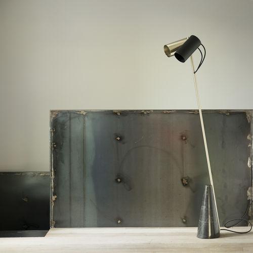 lampada da pavimento / moderna / in metallo / in pietra