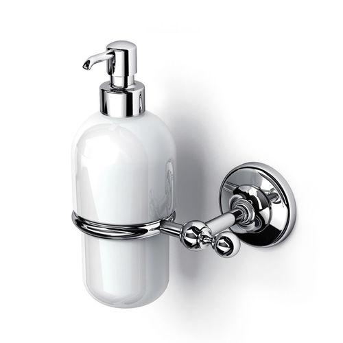 distributore di sapone contract / da parete / in metallo / in ceramica