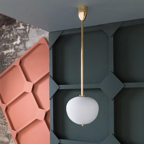 lampada a sospensione / moderna / in ottone / in ottone lucidato