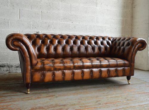 divano chesterfield / in pelle / 2 posti / 3 posti
