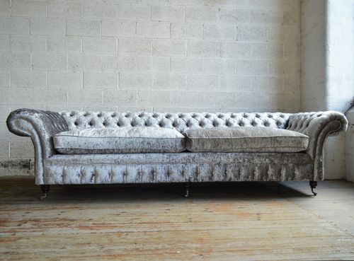 divano chesterfield / in velluto / 4 posti / 5 posti