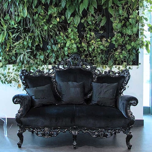 divano design nuovo barocco / per zona reception / in velluto / in cotone