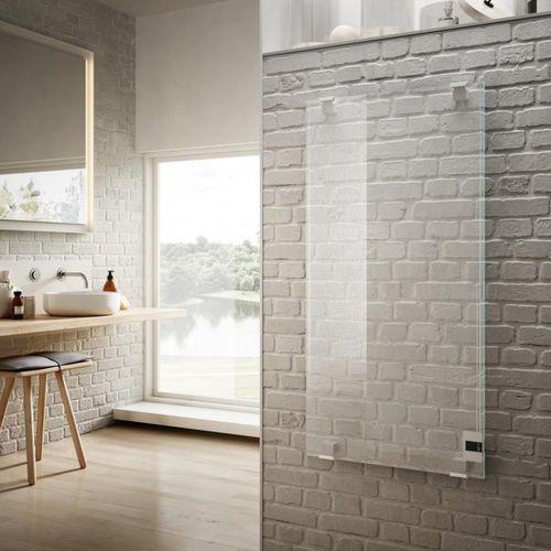 radiatore elettrico / a infrarossi / con rivestimento in vetro temperato / moderno