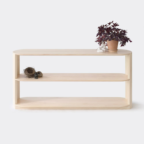 scaffale basso / moderno / in quercia / in legno massiccio