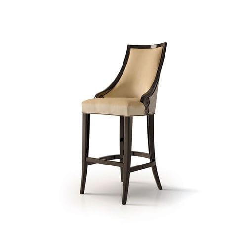 sedia alta classica / imbottita / personalizzabile / in tessuto