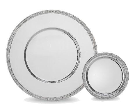 piatto piatto / di presentazione / tondo / in porcellana