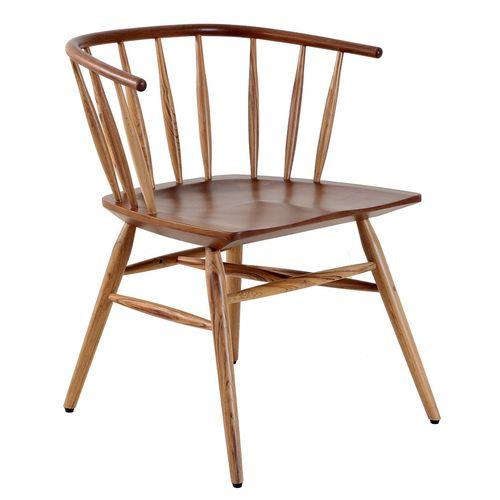 sedia classica / con braccioli / in legno massiccio / contract