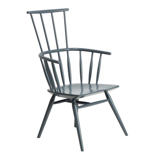 sedia classica / con braccioli / con schienale alto / in legno massiccio