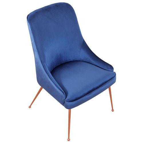 sedia da pranzo classica / imbottita / in tessuto / in metallo