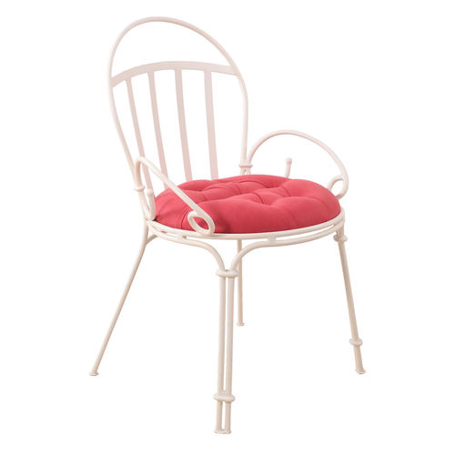 sedia classica / imbottita / con braccioli / in tessuto