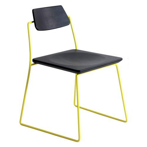 sedia da pranzo classica / a slitta / in legno massiccio / in teak