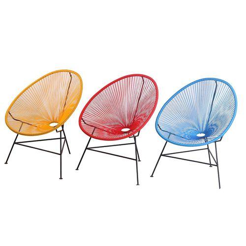 sedia moderna / in metallo / da sala / da esterno