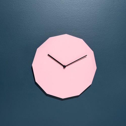 orologio moderno / analogico / a muro / in acciaio