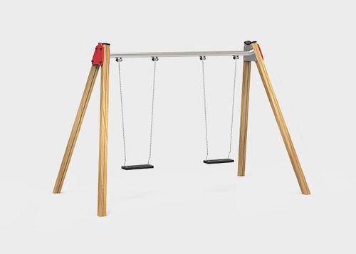 altalena in legno / in metallo / in plastica / per parco giochi