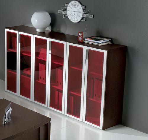 armadio classificatore basso / in legno / in metallo / con sportello battente