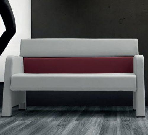 divano moderno / in tessuto / in pelle / contract