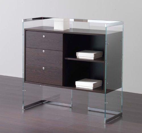 espositore multiuso / in legno / in vetro / contract