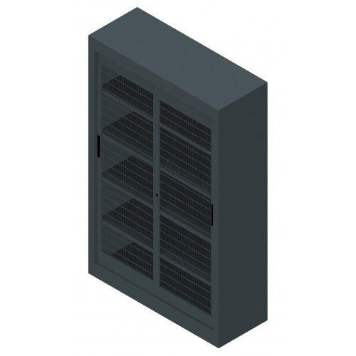 armadio classificatore alto / in metallo / con porta scorrevole / moderno