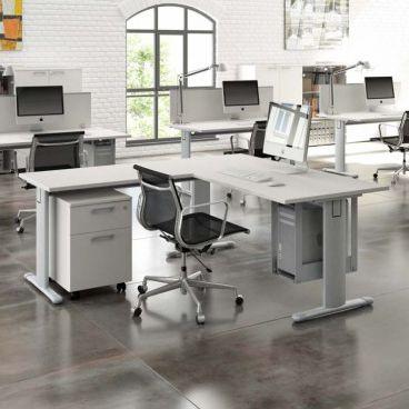 scrivania in legno / moderna / contract / con vano contenitore