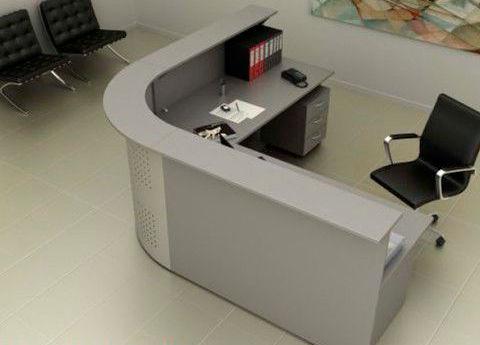 banco reception modulare / d'angolo / in legno / in metallo