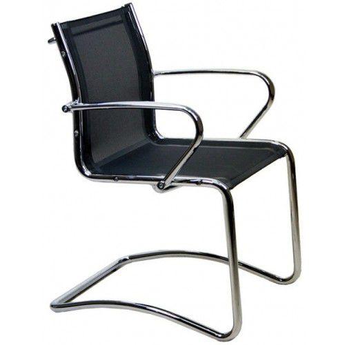 sedia visitatore moderna / con braccioli / cantilever / in tessuto