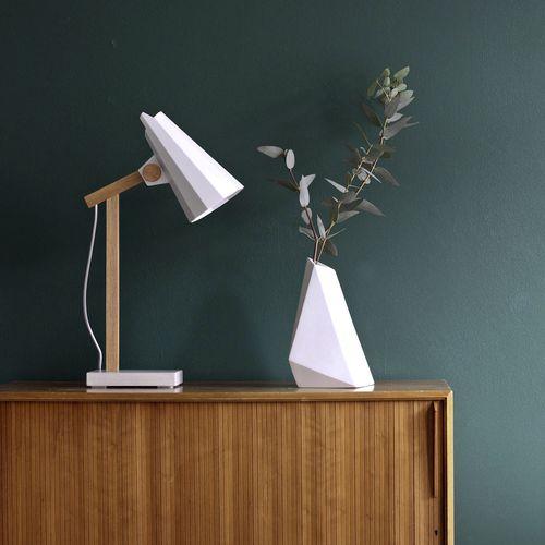 lampada da tavolo / moderna / in alluminio / in quercia