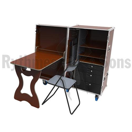 scrivania per open space / in legno compensato / design industriale / contract