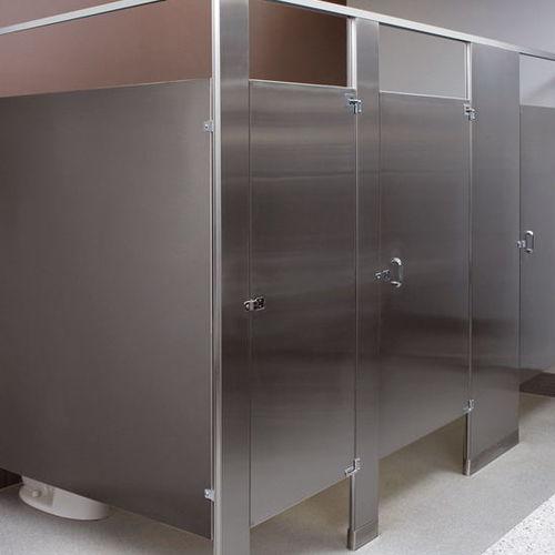 cabina WC per bagno pubblico / in acciaio inox