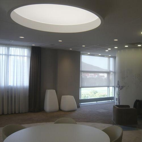 luce da incasso a soffitto / LED / tonda / in tela