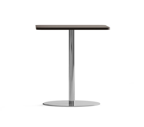 tavolo da bistrot moderno / in acciaio cromato / in melamminico / tondo