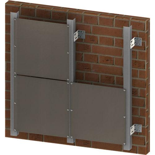 facciata ventilata in alluminio
