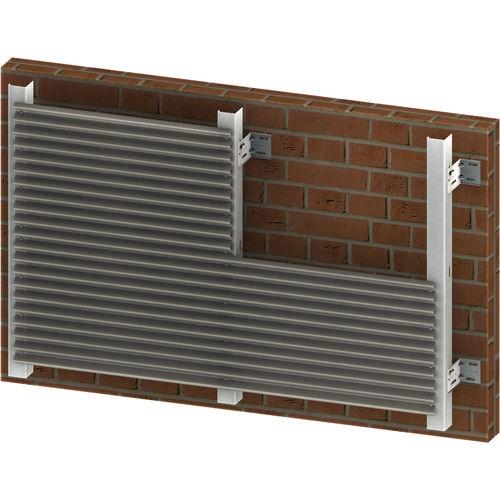 facciata ventilata in metallo