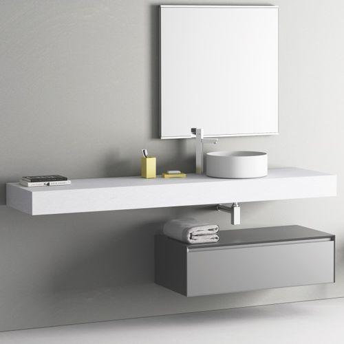 piano lavabo in resina / su misura